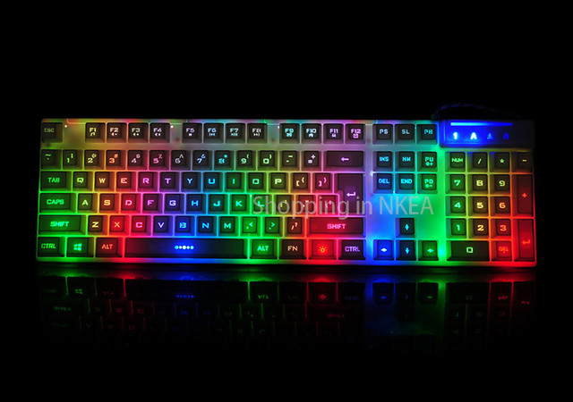 computer gaming keyboard illuminated keyboard for dota 2 lol for