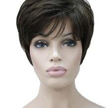 Сильные красивые синтетические Короткие парики с волнистыми волосами 12 цветов женские волосы натуральный парик