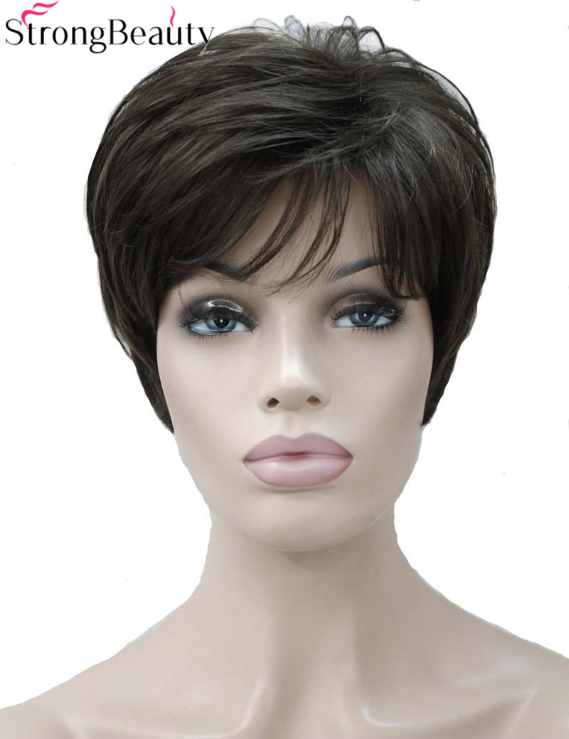 Strong Beauty Synthetic Short Body Wave Wigs 12 Colors Women Hair Natural Wig
