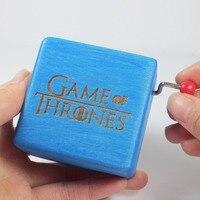 Handmade Game of Thrones music box wood hand crank music box