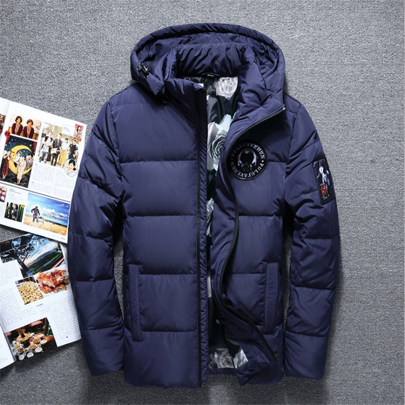 Male Winter hooded   down     coat   casaco masculino inverno Men Winter thin Duck Downjaqueta masculina men Fsahion Casual   down   jacket