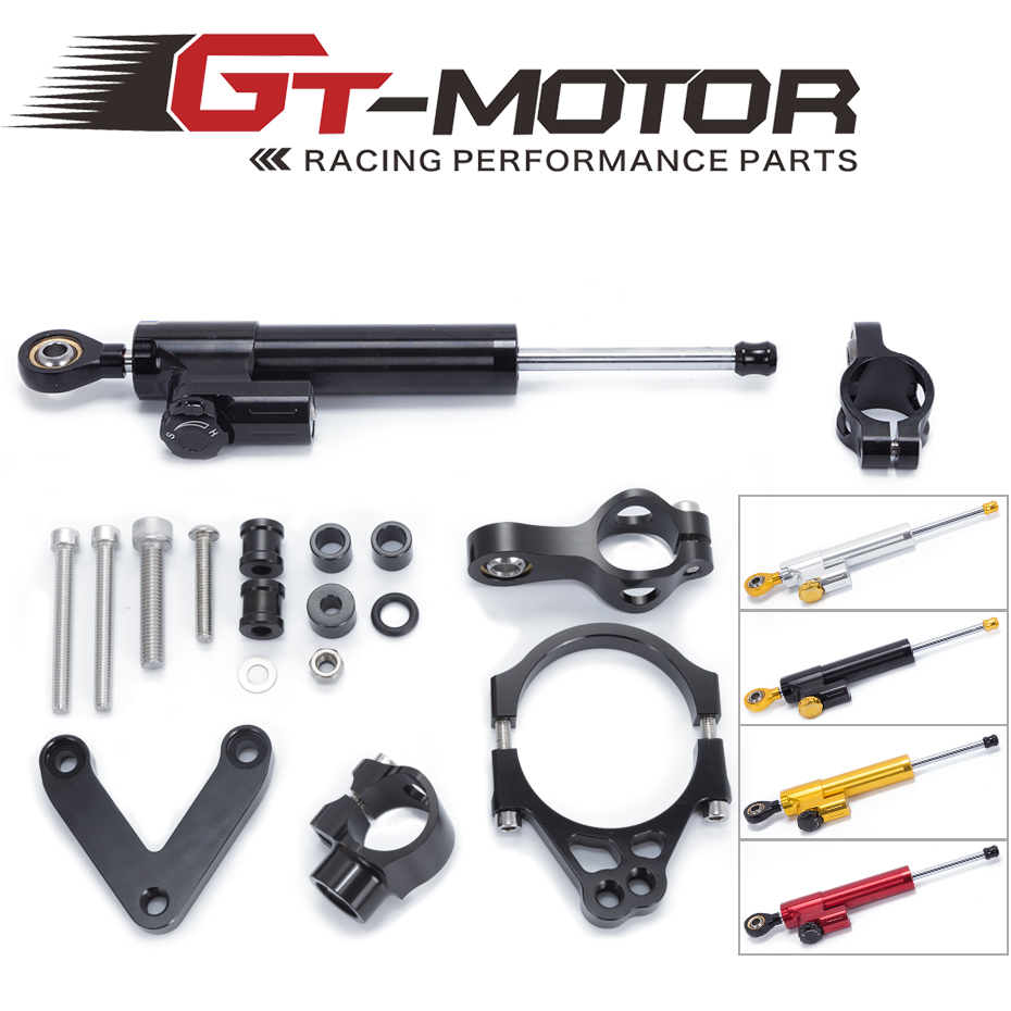 GT Motor - FREE SHIPPING For DUCATI 848 2008 2009 2010 Motorcycle Aluminium Steering Stabilizer Damper Mounting Bracket Kit fxcnc aluminum motorcycle steering stabilizer damper mounting bracket support kit for yamaha fz1 fazer 2006 2015 2007 2008 09