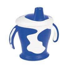Чашка-непроливайка Canpol с ручками, 250 мл. Little cow 9+, цвет: синий
