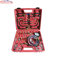 2016 BOTTOME PRICE TU 443 Fuel Pressure Tester Kit Master Fuel Injection Pressure Test Kit TU443 Manometre Full Set