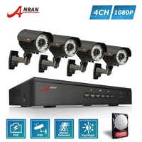 ANRAN P2P 1080P HD 4CH POE NVR 2 8 12MM Zoom Lens 30 IR Waterproof Dome
