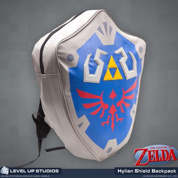 299e736c0d74 legend of zelda shield backpack   Wholesale 5pcs lot   Official Legend Of Zelda  Hylian Shield Backpack 3D Backpack School Bag