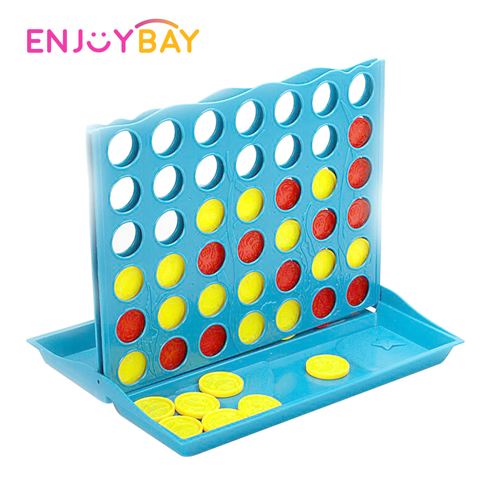 Enjoybay Interesting Kids Board Game Connect 4 In a Line Interactive Toys 3D Puzzle Toy Early Educational Toys for Children