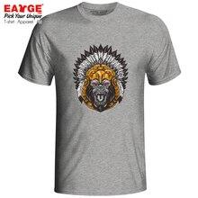 Secret Lucky Chief Gray T-shirt Demon Monkey Cool Hip Hop Casual Design T Shirt Rock Punk Brand Women Men Top Cotton Tee