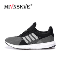 MIVNSKVE Spring Summer Men Comfortable Sports For Adult Running Sneakers Outdoor Activities Walking Jogging Lace Up Cheap Shoes