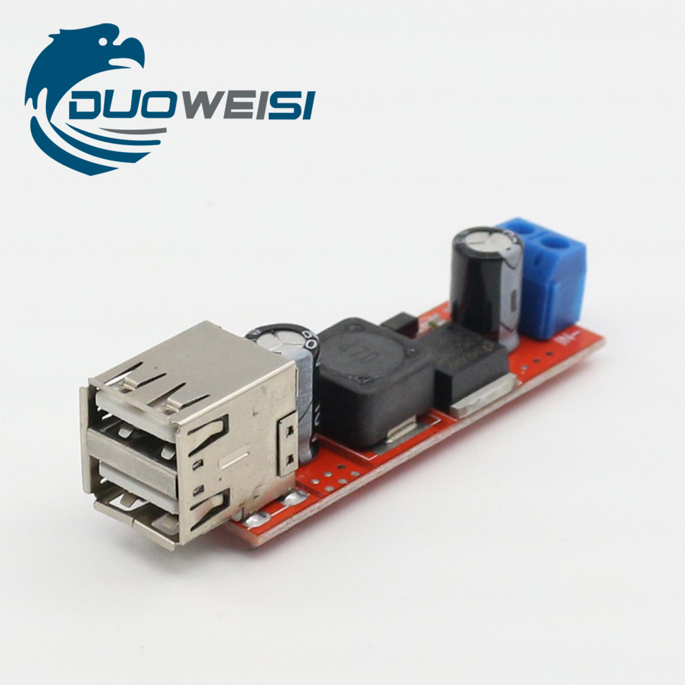 DC 6V-40V To 5V 3A Double USB Charge DC-DC Step-down Converter Module High Quality usb to rs485 module black