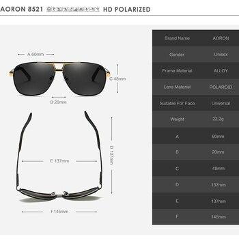 AORON Men's Polaroid Sunglasses Men Goggles Luxury Design Aluminum Magnesium Frame Sun Glasses Vintage Oculos de sol 8