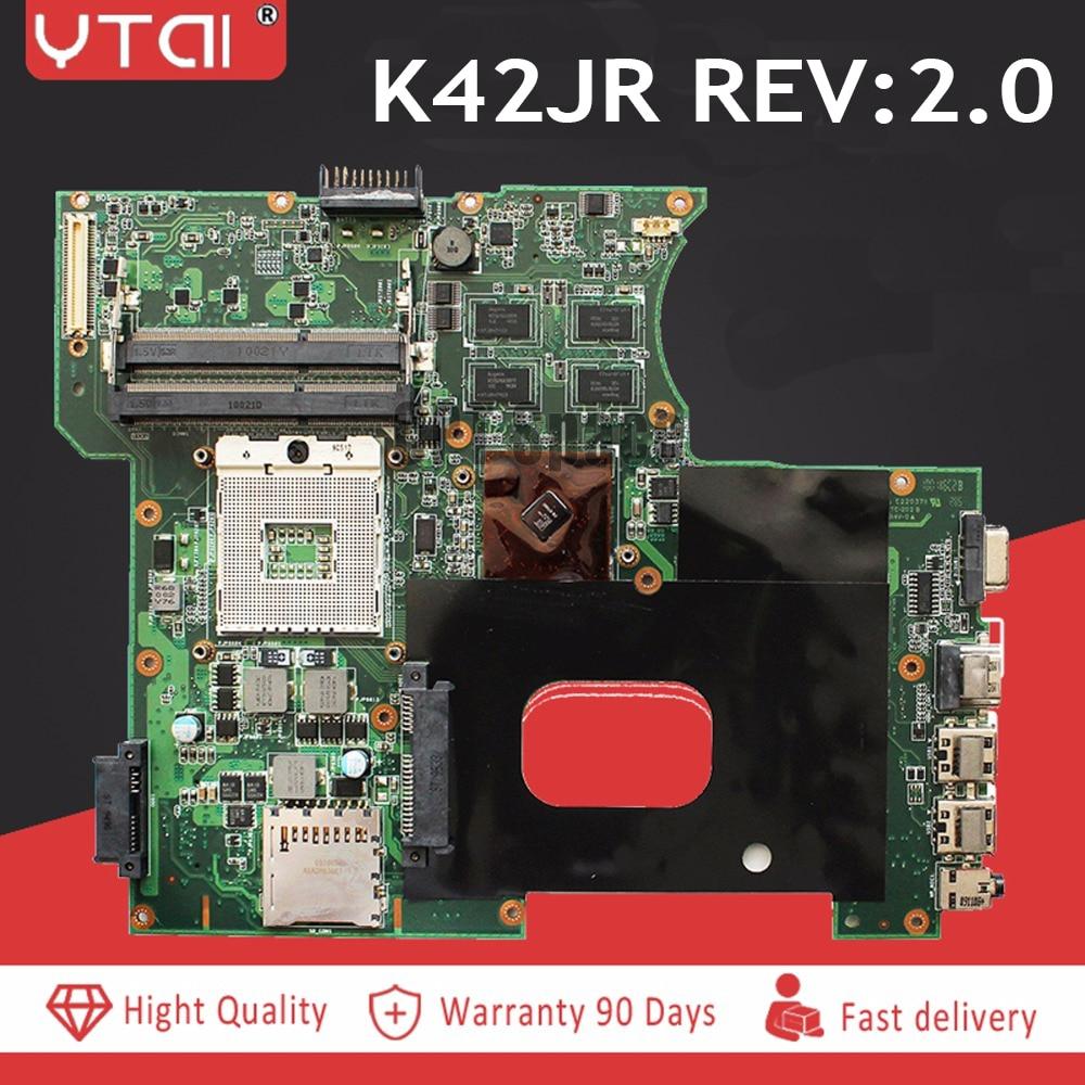 K42JR laptop Motherboard REV 2 0 for K42JB K42JZ K42J YMotherboard DDR3 HM55 REV 2 0