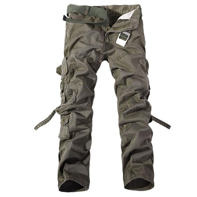 2017 nuevos hombres de la moda de alta calidad de algodón para hombre pantalones de carga del ejército militar trainingoutdoortactical pantalones, más el tamaño 28-40