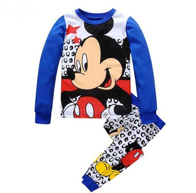 Meninos roupa do bebê Pijama crianças pijama meninas enfant crianças menina conjunto de roupas pijama de Mickey mouse de manga Comprida + Calças ZTB