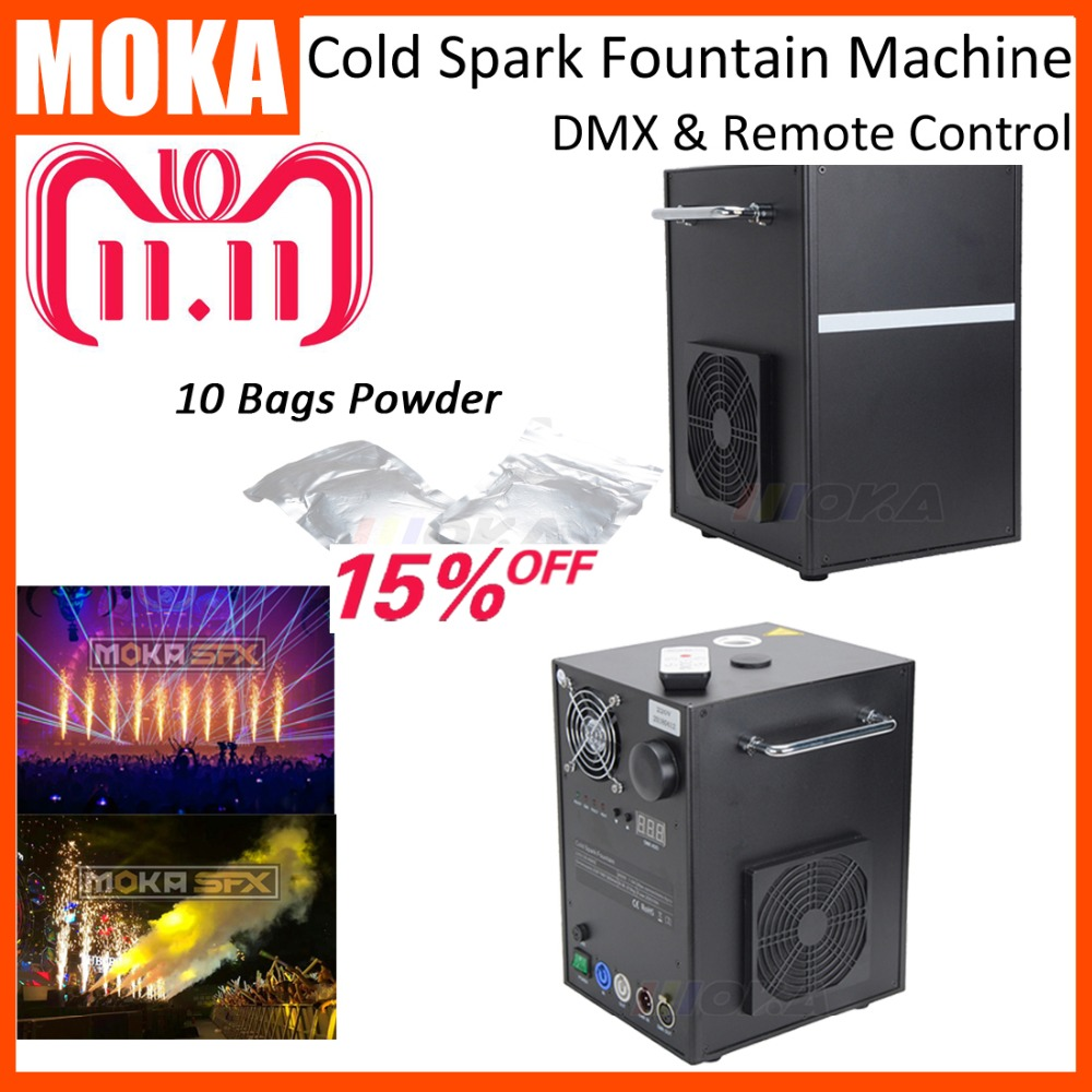 2 Pcs/lot with 10 bags Powder DMX remote cold spark fountain machine indoor firework non-pyrotechnic sparkler for stage effects спойлер на капот azard ваз 2121 нива
