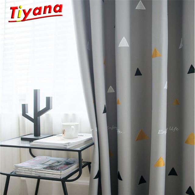 US $18.19 31% OFF|Fashion Geometric Custom Curtain Contracted Contemporary  Curtains for Living Room Bedroom Shading Nordic Day Type Style Su372*30-in  ...