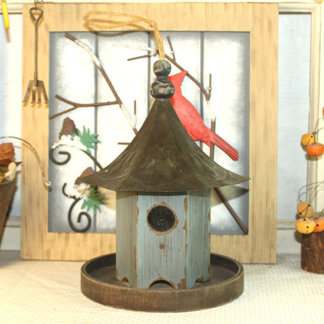 Exceptional Special Idyllic Rustic Wooden Bird Nest Ornaments Creative Fashion House  Furniture Knick Knacks 4