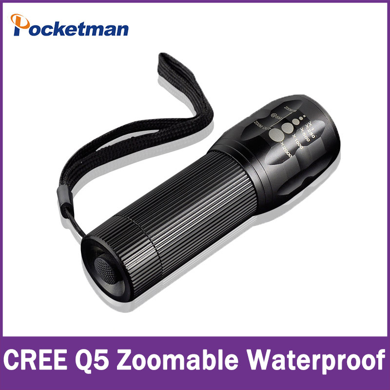High-quality CREE Q5 2000 Lumens Lanterna Waterproof Mini Black LED Flashlight 3 Modes Zoomable Tactical Torch Light zk92 150pcs smokeless moxa stick acupuncture massage moxibustion moxa wormwood artemisia 7mm 120mm high density heat free shipping