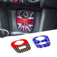 Union Jack Car Cigarette USB AUX Console Panel Decorative Stickers Decals For Mini Cooper JCW F55