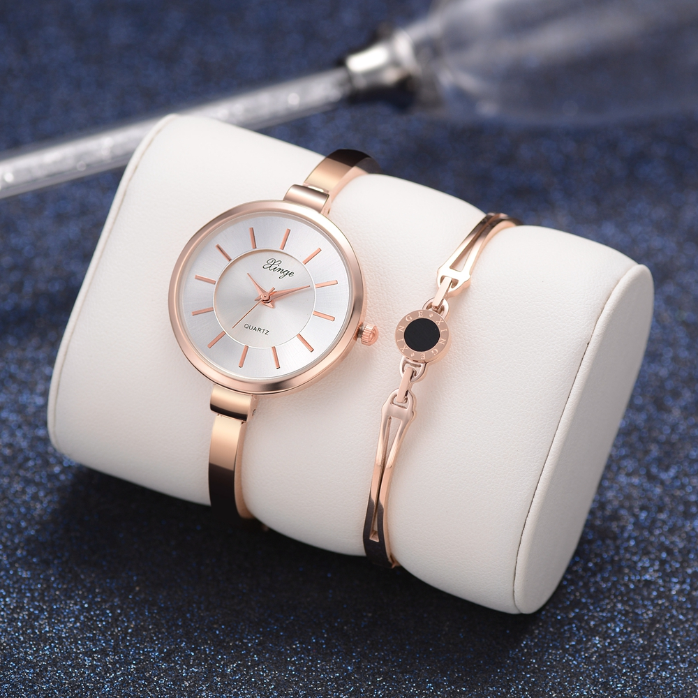 2018 Xinge Brand Ladies Bracelet Watch Set Fashion Women Party Dress Business Quartz Watches Luxury Wrist Watch Gift 2018