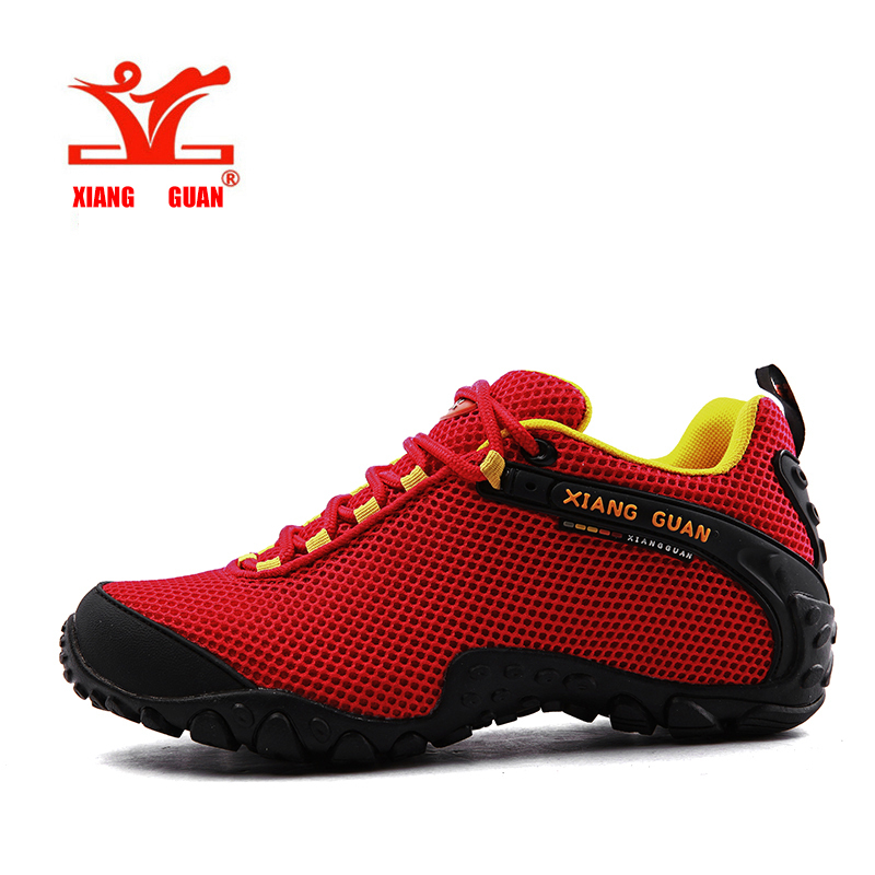 ФОТО XIANGGUAN Waterproof Hiking Shoes For Women Lover Climbing Woman Trekking Sport Sneakers Outdoor Walking zapatos de senderismo
