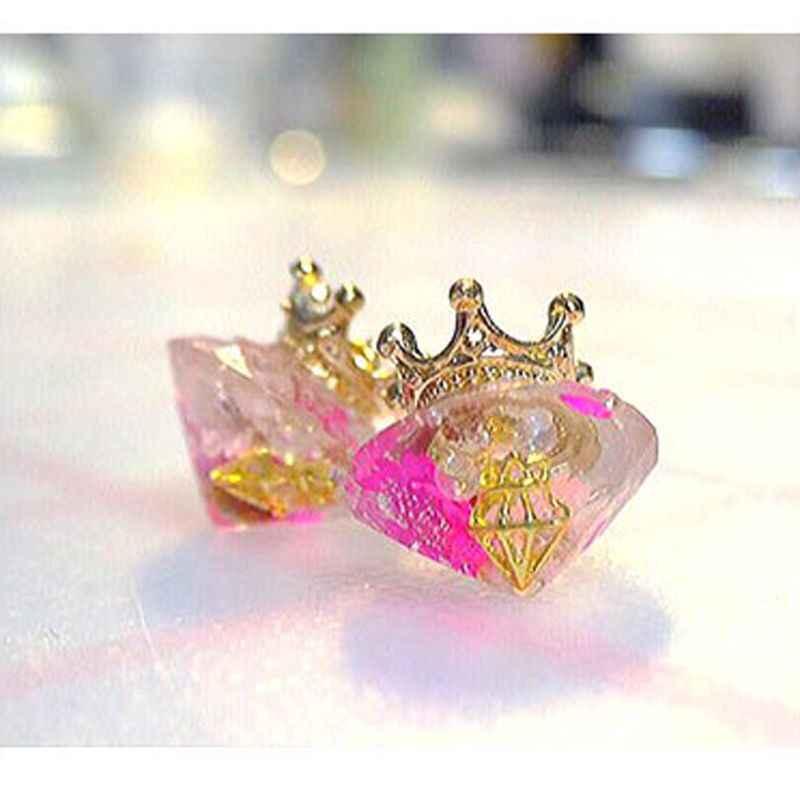 Kit de Moldes de silicone Em Forma de Diamante Brincos de Jóias DIY Decor Bolo Feito À Mão DIY