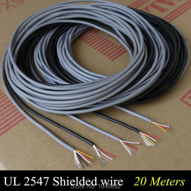 20m UL 2547 28/26/24 AWG Multi core Control Cable Copper Wire ...
