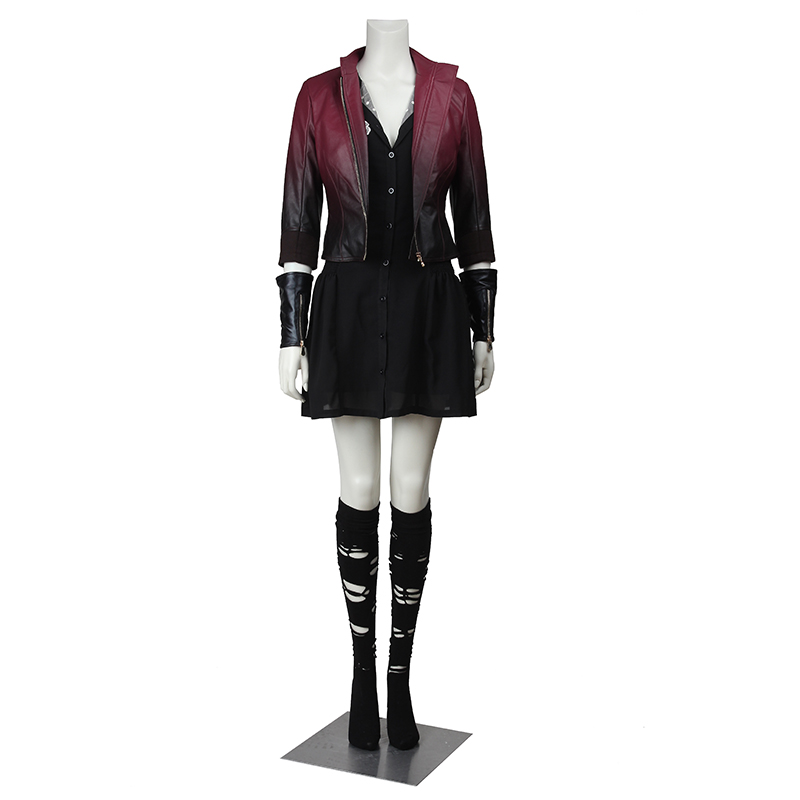 Scarlet Witch Wanda Maximoff Cosplay Costume The Avengers Cosplay Clothing Superhero Sexy Dress Outfit Halloween Party for Women