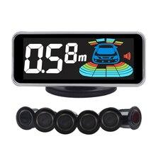 6/NY606 sensores Car Kit Display LCD Sensor de Aparcamiento para todos los coches de ayuda al aparcamiento radar de marcha atrás