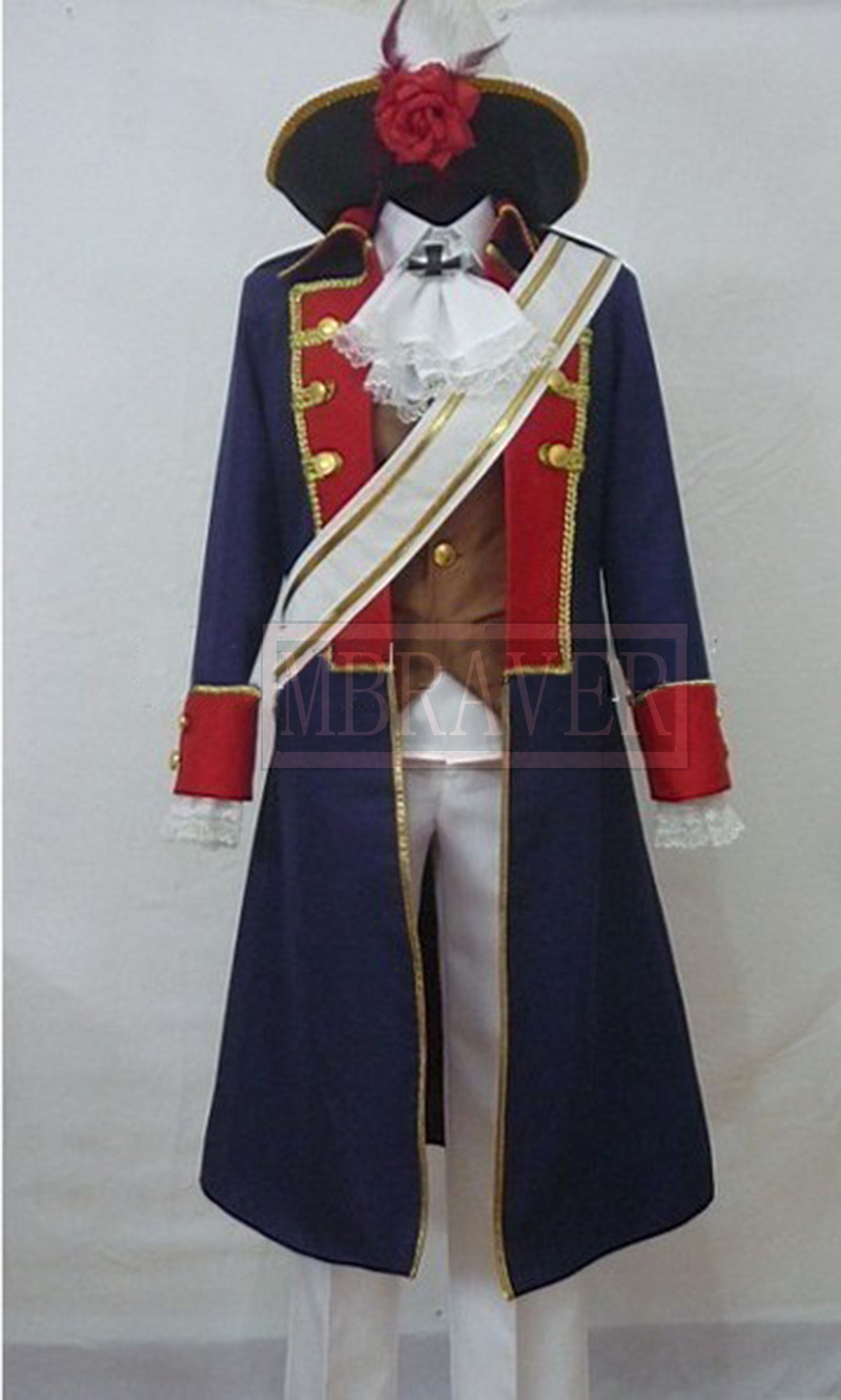 APH Axis Powers Hetalia Prussia Cosplay Costume set