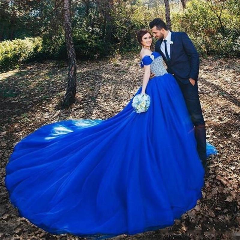 Robe Mariage bleu brillant cendrillon Robe