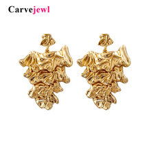 Carvejewl big drop earrings metal wind personality tree shape for women jewelry girl gift new fashion European