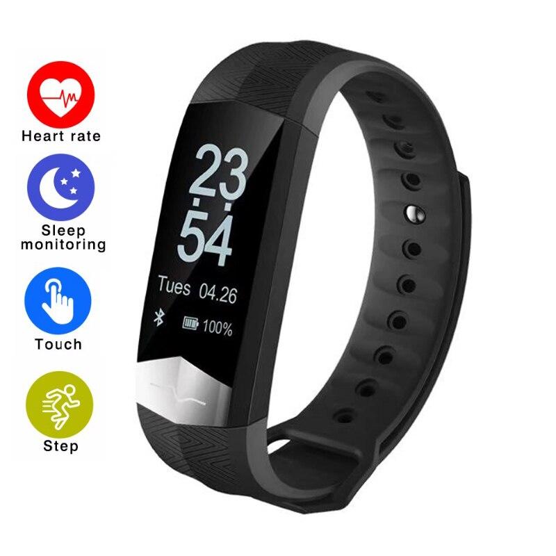Bracelet intelligent CD01 Sang Pression moniteur de fréquence cardiaque Fitness joli pull-over OLED Écran rappel de message PK Xiao mi mi Bande 2
