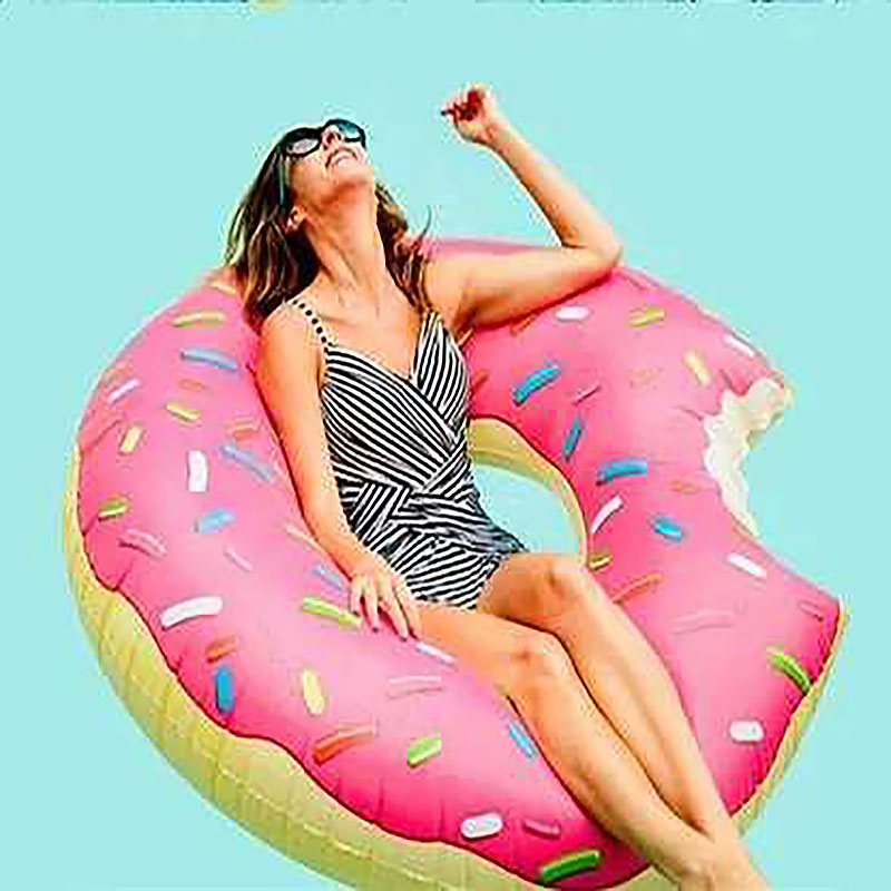 Donut Inflatable Swimming Ring Adult Super Large Gigantic Doughnut Kids Children Summer Party Pool Toys Life Buoy Seat Float