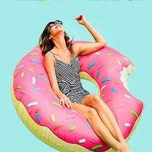Пончик надувной плавательный круг для взрослых супер большие гигантские пончик детей Для летних вечеринок бассейн игрушки спасательный круг сиденье лодка