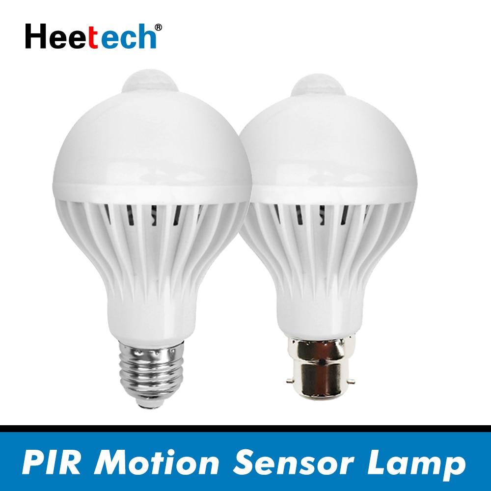 PIR Motion Sensor LED Bulb E27 Lamp 5W 7W 9W 110V 220V Led Light Induction Bulb Stair Hallway Night Light Corridor Lamps