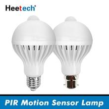 PIR czujnik ruchu żarówka LED E27 lampa 5W 7W 9W 110V 220V Led światło żarówka indukcyjna schody korytarz noc światło korytarz lampy