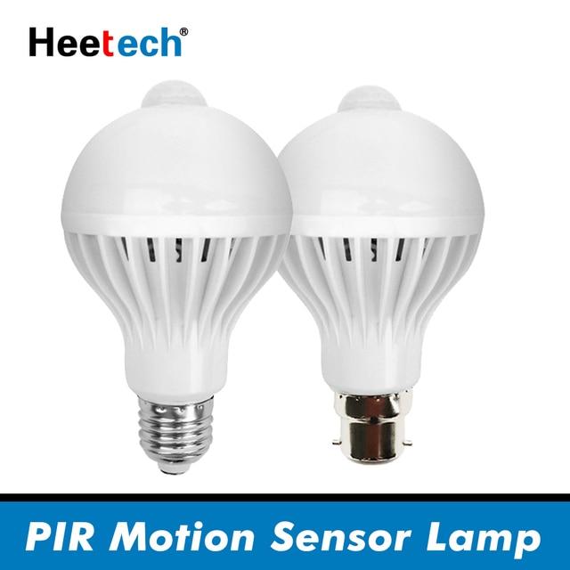PIR hareket sensörlü LED Ampul E27 Lamba 5 W 7 W 9 W 110 V 220 V led ışık Indüksiyon Ampul Merdiven Koridor gece Işık Koridor Lambaları