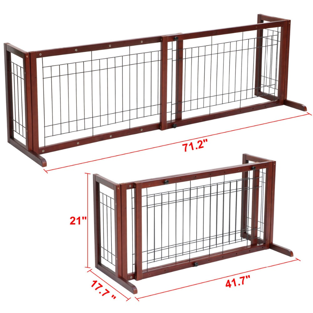 Delicieux Pet Fence Gate Free Standing Adjustable Dog Gate Indoor Solid Wood In  Houses, Kennels U0026 Pens From Home U0026 Garden On Aliexpress.com | Alibaba Group