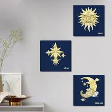 Hot Sale Colorful Pattern Canvas Wall Painting Picture Home Office Decor Sun Moon Star Canvas Wall Art Painting Printed Picture(China)