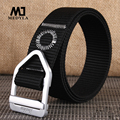 Factory price men army tactical belt military outdoor sport training nylon belts mens waist strap with metal buckle