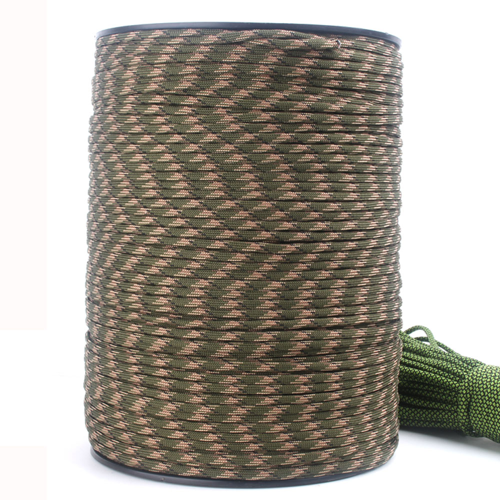 DHL Free 4mm Paracord 1000FT 550 Rope Parachute Cord Lanyard 7 Strands Paracord For Outdoor Survival