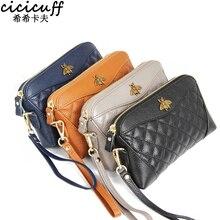 Carteira de couro bovino feminina, bolsa carteira longa com zíper macio