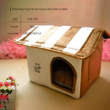 Autumn Winter Pet Dog Bed Warming House Puppy Removable Kennel Nest Cat Mats Outdoor Home Supplies ATB-177