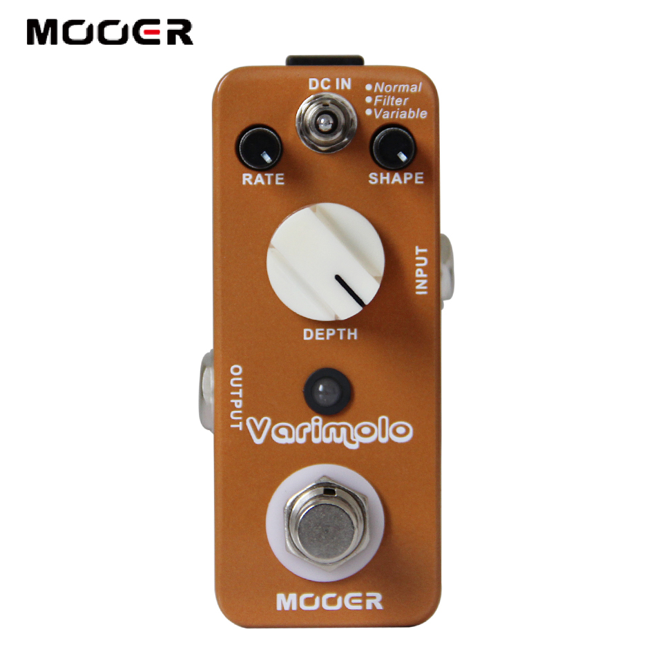 MOOER Varimolo Digital Psychedelic Tremolo Pedal True Bypass Guitar effect pedal mooer ensemble queen bass chorus effect pedal mini guitar effects true bypass with free connector and footswitch topper