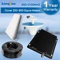 Novo Dual Band 3G GSM Repetidor Amplificador 900 MHz UMTS 2100 MHz Sinal de Telefone Celular Impulsionador GSM W-CDMA Móvel Repetidor de sinal