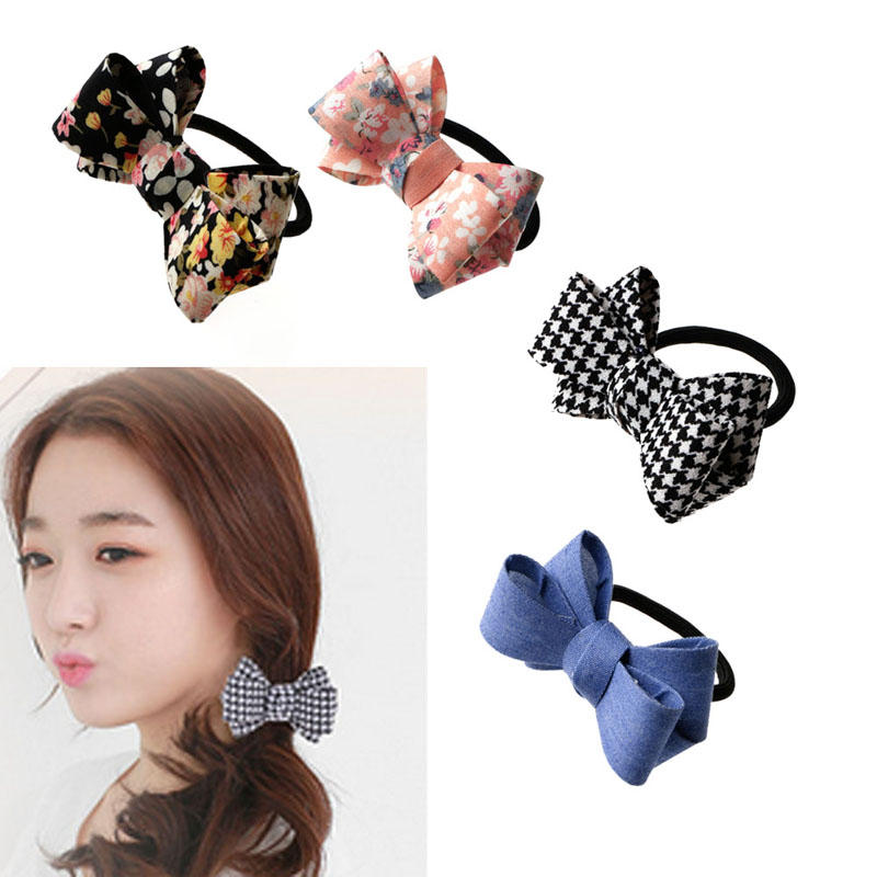 Charm Womens Bow Knot Hair Band Elastic Rope Ring Hairband Scrunchie Ponytail Wholesale