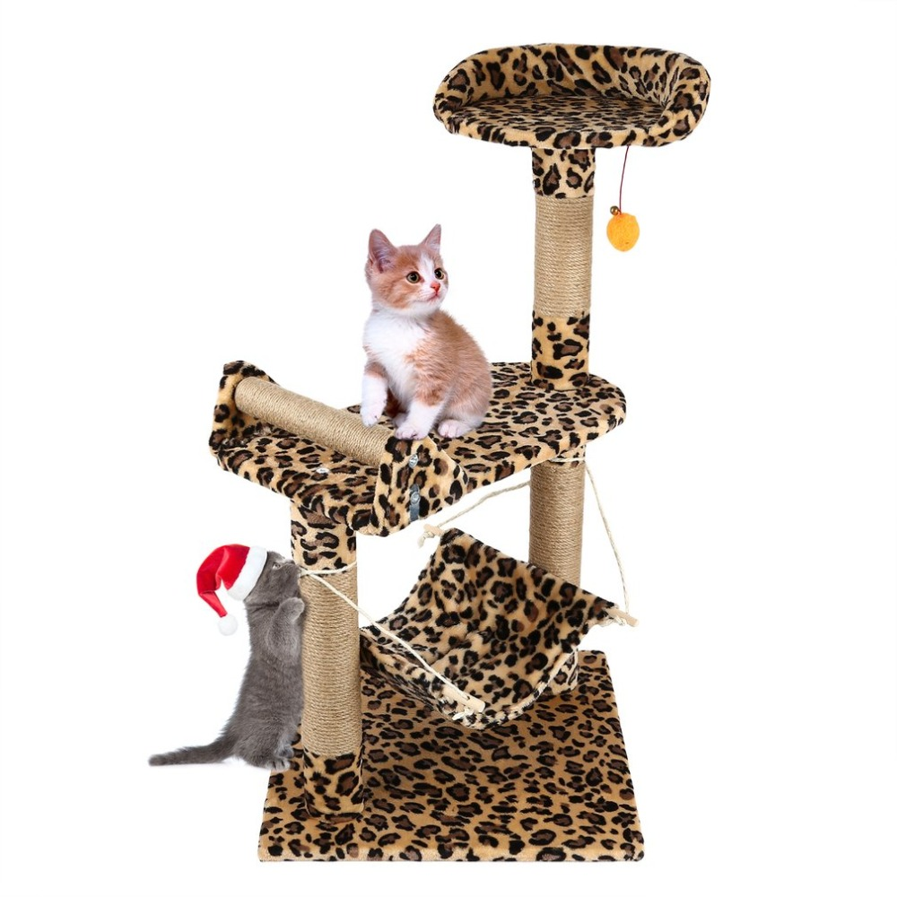 (Ship From US) Pet Cat Tree Climbing Frame Toy Cat Scratching Posts Cat Scratch Board Jumping Ship Training Toy Cat Furniture