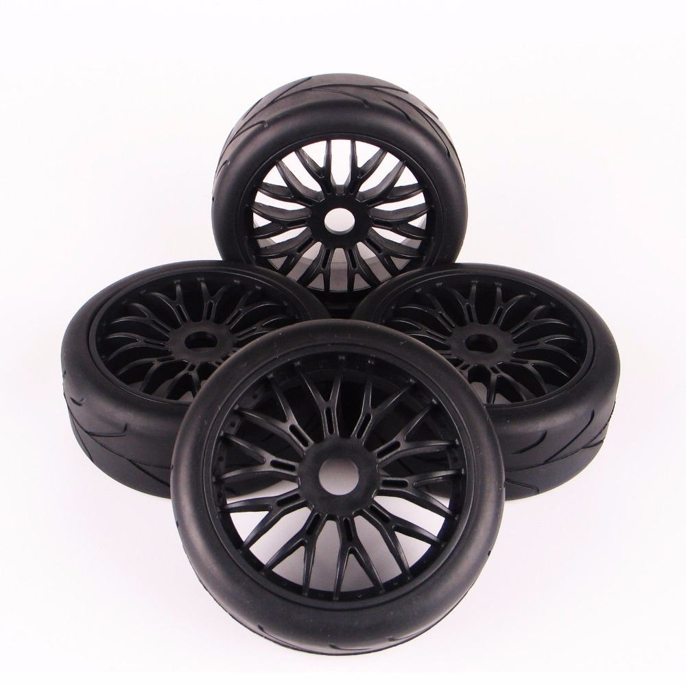 1/8 Scale Car Off-Road Rubber Tires And Wheel Rim Model Toys  For HPI HSP Traxxas RC Car Buggy Toys Accessory 1 8 buggy on road tires 17mm for kyosho hobao hsp hpi 4pcs tires