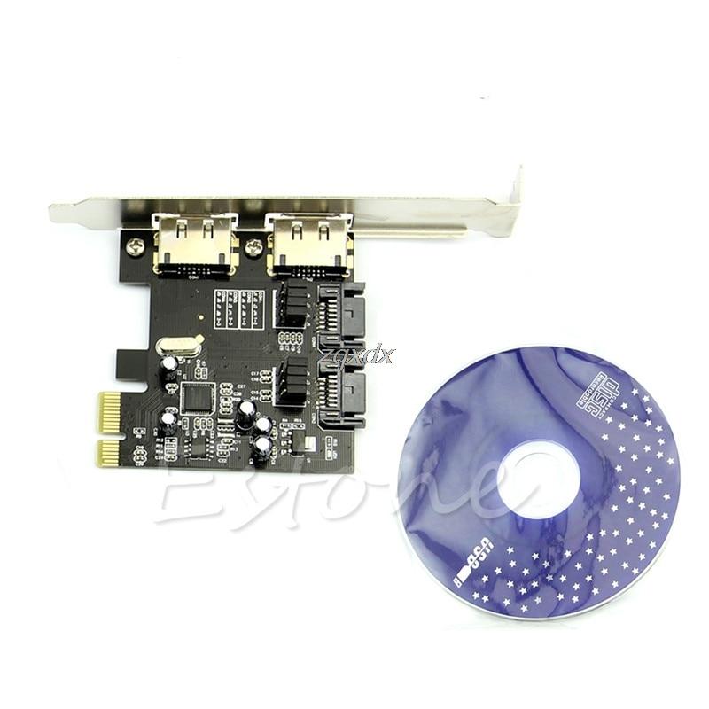2 Ports 6 Gbps Hot-Plug Unterstützung 2 TB Festplatte Esata PCI-E zu SATA 3,0 SATA III 2 Ports Karte Adapter + Treiber CD Z09 Drop ship